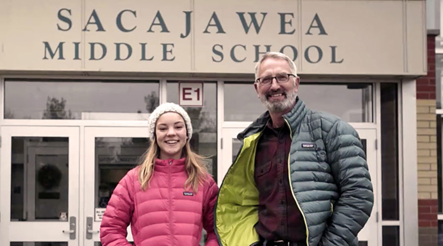 Seventh grader switches her school to solar