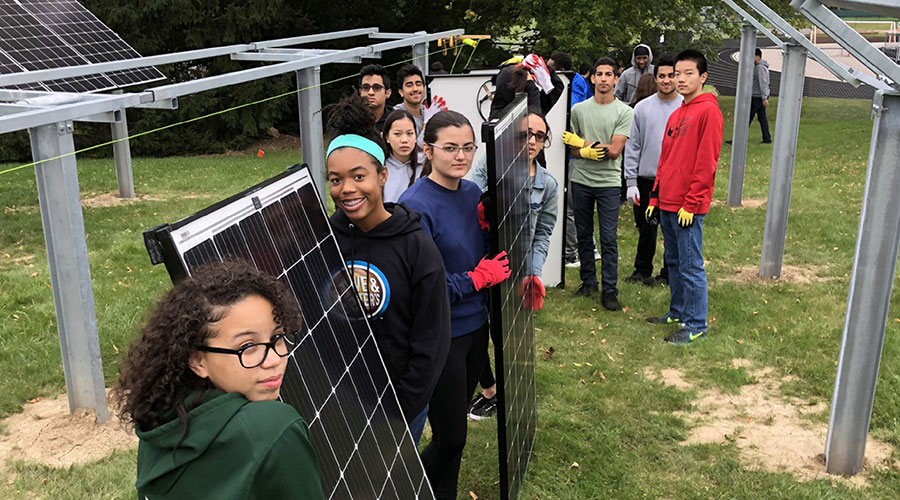 Solar-powered science in Michigan