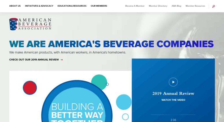 American Beverage Association website