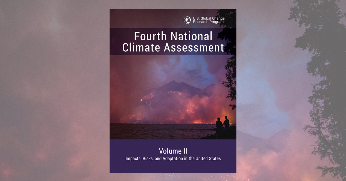 Cover of U.S. government's Fourth National Climate Assessment