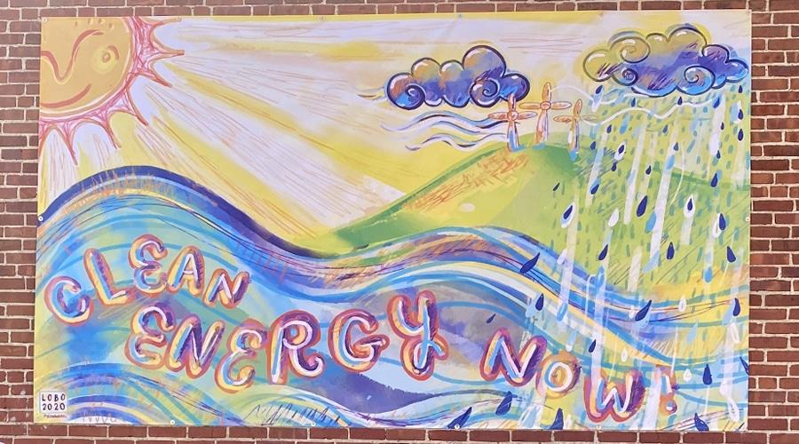 Clean energy now mural