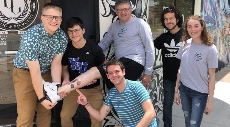 Kansas teacher has skin in the solar game—literally