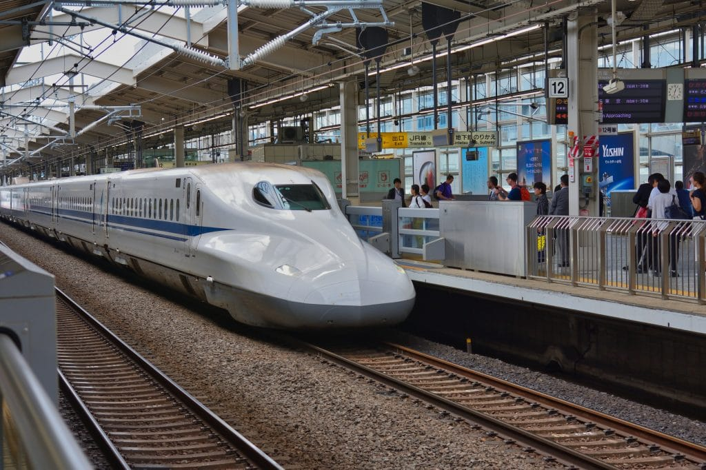High speed train in Japan