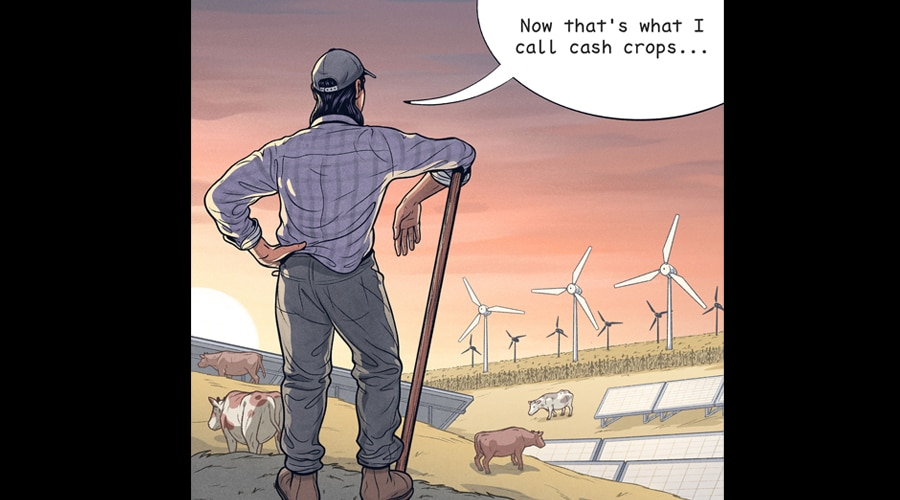 How renewable energy can help save America's struggling farms