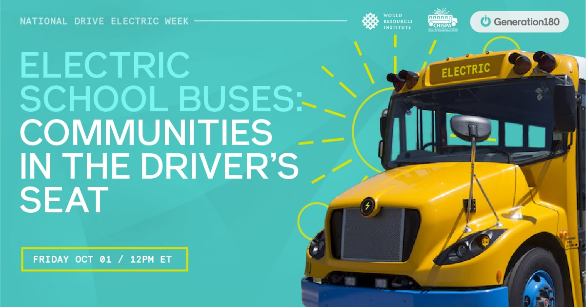 Electric school buses: communities in the driver's seat
